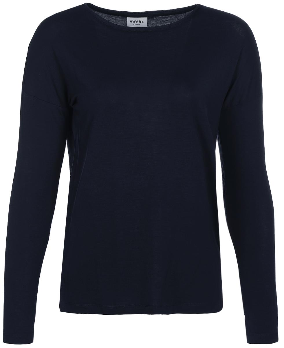 Пуловер женский Vero Moda, цвет: синий. 10189183_Navy Blazer. Размер 46/48 vero moda свитер с длинными рукавами