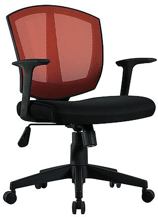 Кресло оператора Brabix Diamond MG-301, цвет: черный, оранжевый530866Надежное практичное кресло. Сетчатая спинка улучшает вентиляцию, а стильный яркий дизайн идеально впишется в интерьер любого помещения. Сиденье - практичная, стойкая к выцветанию мебельная ткань TW.Материал обивки спинки - прочная акриловая сетка. Механизм качания Top-Gun с регулировкой под вес сидящего позволяет изменять высоту сиденья, а также фиксировать наклон кресла в рабочем положении. Эргономичная профилированная спинка.Механизм Top-Gun.Подлокотники и пятилучие - пластиковые, повышенной прочности.Рекомендуемая нагрузка на кресло до 100 кг.Цвет обивки - черный, оранжевый.