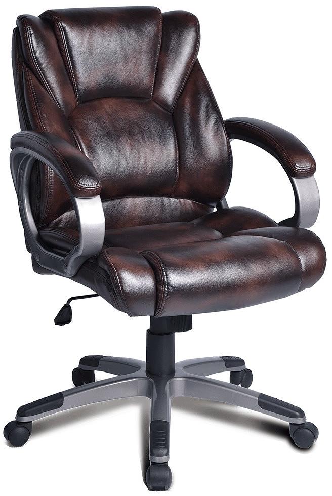 Кресло офисное Brabix Eldorado EX-504, цвет: коричневый кресло офисное brabix heavy duty hd 001 экокожа 531015