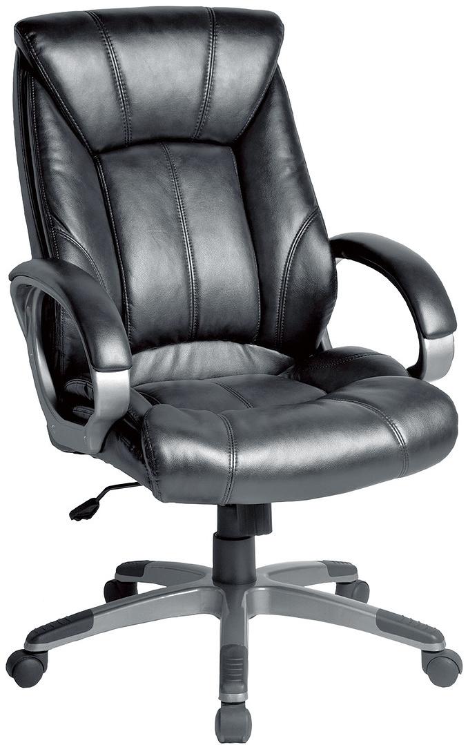 Кресло офисное Brabix Impulse EX-505, цвет: черный. 530877530877Всесторонняя поддержка спины и эргономичная конструкция спинки, а так же элегантные формы обеспечивают комфорт и неповторимый стиль данного кресла.Материал обивки - экокожа - современный материал на хлопковой основе.Механизм качания Top-Gun.Прочное литое пластиковое пятилучие.Боковая поддержка спины.Удобный подголовник.Просторное мягкое сиденье.Подлокотники из прочного пластика с мягкими накладками.Эргономичная конструкция спинки.Противоскользящие накладки на пятилучии.Рекомендуемая нагрузка на кресло до 120 кг.Цвет - черный.