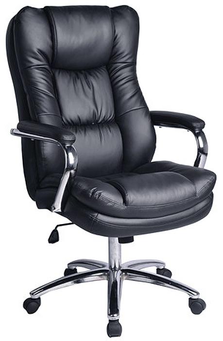 Кресло офисное Brabix Amadeus EX-507, цвет: черный530879Кресло отличается уровнем комфортности: удобный подголовник, боковая поддержка спины и эргономичная конструкция. Хромированные элементы делают кресло не только стильным, но и надёжным.Материал обивки - высококачественная рециклированная кожа.Механизм качания Top-Gun.Прочное литое металлическое пятилучие.Удобный подголовник.Эргономичная конструкция спинки и боковая поддержка спины.Просторное мягкое сиденье.Металлические хромированные подлокотники с мягкими накладками.Рекомендуемая нагрузка на кресло до 120 кг.Цвет - черный.