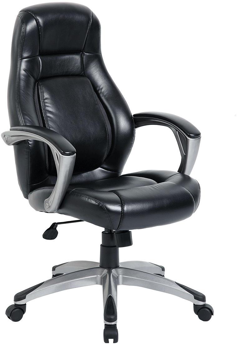 Кресло офисное Brabix Turbo EX-569, цвет: черный531014Комфортное кресло с дизайном в стиле спорт и улучшенной эргономикой. Спинка с удобным подголовником, поддержкой поясницы и валиками для боковой поддержки спины. Для лучшей вентиляции на спинке предусмотрены стильные вставки из сетчатой ткани.Материал обивки - экокожа - современный материал на хлопковой основе.Спинка с перфорированными вставками для лучшей вентиляции.Механизм качания Top-Gun.Прочное литое пластиковое пятилучие.Боковая поддержка спины.Удобный подголовник.Просторное мягкое сиденье.Подлокотники из прочного пластика с мягкими накладками.Эргономичная конструкция спинки.Противоскользящие накладки на пятилучии.Рекомендуемая нагрузка на кресло до 120 кг.Цвет - черный.