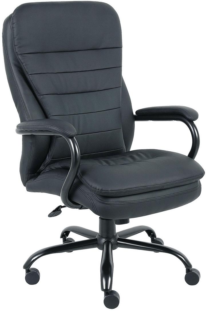 Кресло офисное Brabix Heavy Duty HD-001, цвет: черный кресло офисное brabix heavy duty hd 001 экокожа 531015