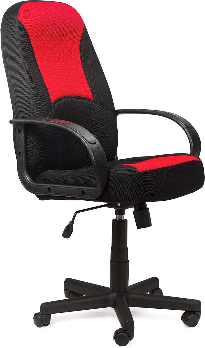 Кресло офисное Brabix City EX-512, цвет: черный, красный531408Эргономичное и практичное кресло. Специальная формовка спинки и сиденья обеспечивает комфорт в процессе эксплуатации. Модель оснащена механизмом качания Top-Gun.Материал обивки - стойкая к выцветанию ткань серии TW.Механизм качания с возможностью фиксации кресла в рабочем положении.Рекомендуемая нагрузка на кресло до 100 кг.Регулируемая высота сиденья.Подлокотники и пятилучие - пластиковые.Цвет обивки - комбинация черного и красного.