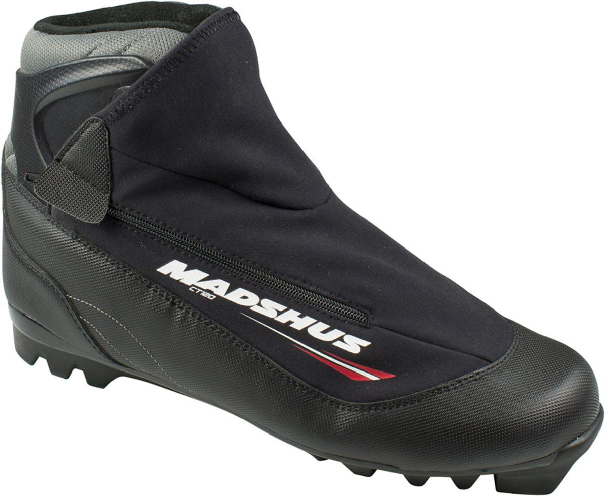 Ботинки лыжные Madshus CT120 Ski, цвет: черный. Размер 39N164009.39Новые лыжные ботинки Madshus CT120 Ski имеют классическую для прогулочных ботинок конструкцию, к которой добавлены вшитое усиленное голенище для лучшей поддержки голеностопа и инновационная софтшелл-конструкция внешнего ботинка.Новая конструкция обеспечивает более быструю шнуровку и лучшую фиксацию стопы. Внешний ботинок модели CT120 из софтшелл-материала MemBrain сохранит ваши ноги в тепле на протяжении всех долгих лыжных прогулок.