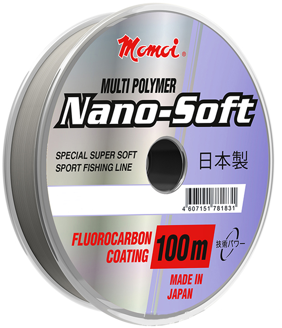Леска Momoi Fishing Hameleon Nano-Soft, 100 м, 0,18 мм, 3,6 кг виброхвост savage gear lb soft 4play swim and jerk 25 00 09