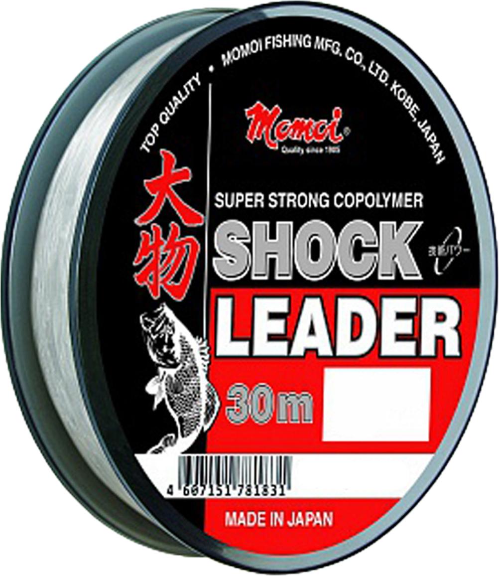 Леска зимняя Momoi Fishing Shock Leader, 0,60 мм, 32,0 кг, 30 м16870Рыболовная леска Shock Leaderот японской компании Momoi Fishing лучшая мононить для изготовления поводков. Сверхпрочная леска из сополимера MIJ Copolyme