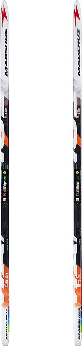 """Беговые лыжи Madshus """"CT 140 IGS Skis NIS"""" - эти высококачественные лыжи для длительных прогулок с конструкцией Torsion Cap, продуманный профиль весового прогиба обеспечит уверенное держание при отталкивании в любых условиях. Лыжи обладают сердечником из адамова дерева и фирменным армированием карбоном, но несколько увеличенной ширины для еще большей устойчивости. Боковой вырез: 52-48-50мм. Вес: 1300гр/190см.     Как выбрать беговые лыжи. Статья OZON Гид"""