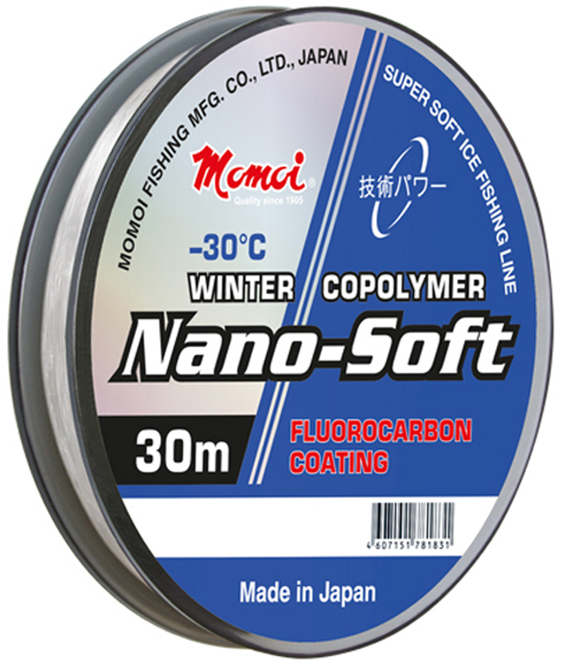 Леска зимняя Momoi Fishing Nano-Soft Winter,, 0,105 мм, тест 1,2 кг, 30 м
