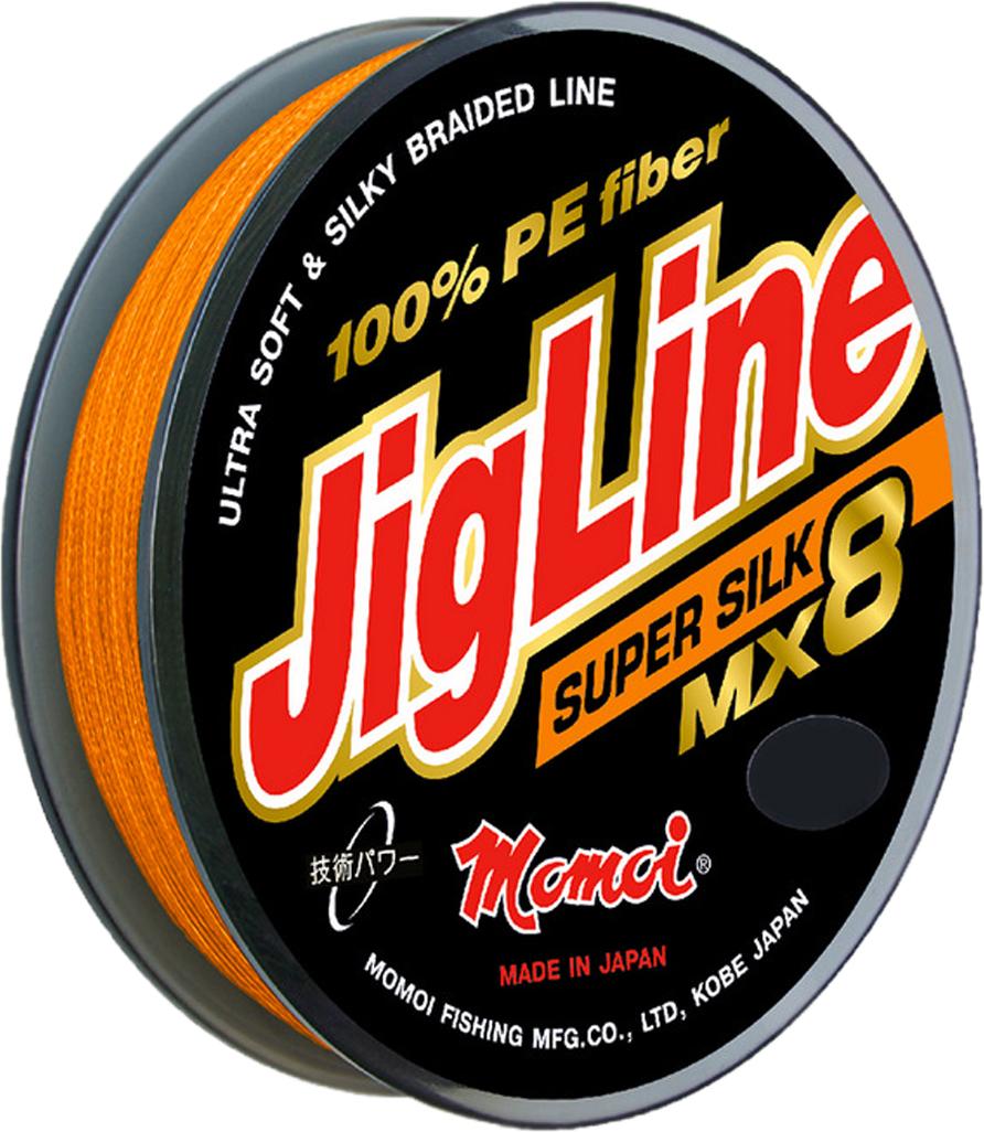 Шнур плетеный Momoi Fishing JigLine MX8 Super Silkr, 0,10 мм, 7,8 кг, 150 м13230Обладатель подобного шнура получает возможность точно делать дальние забросы сверх легких приманок, блесен вертушек не опасаясь обрывов при зацепах.