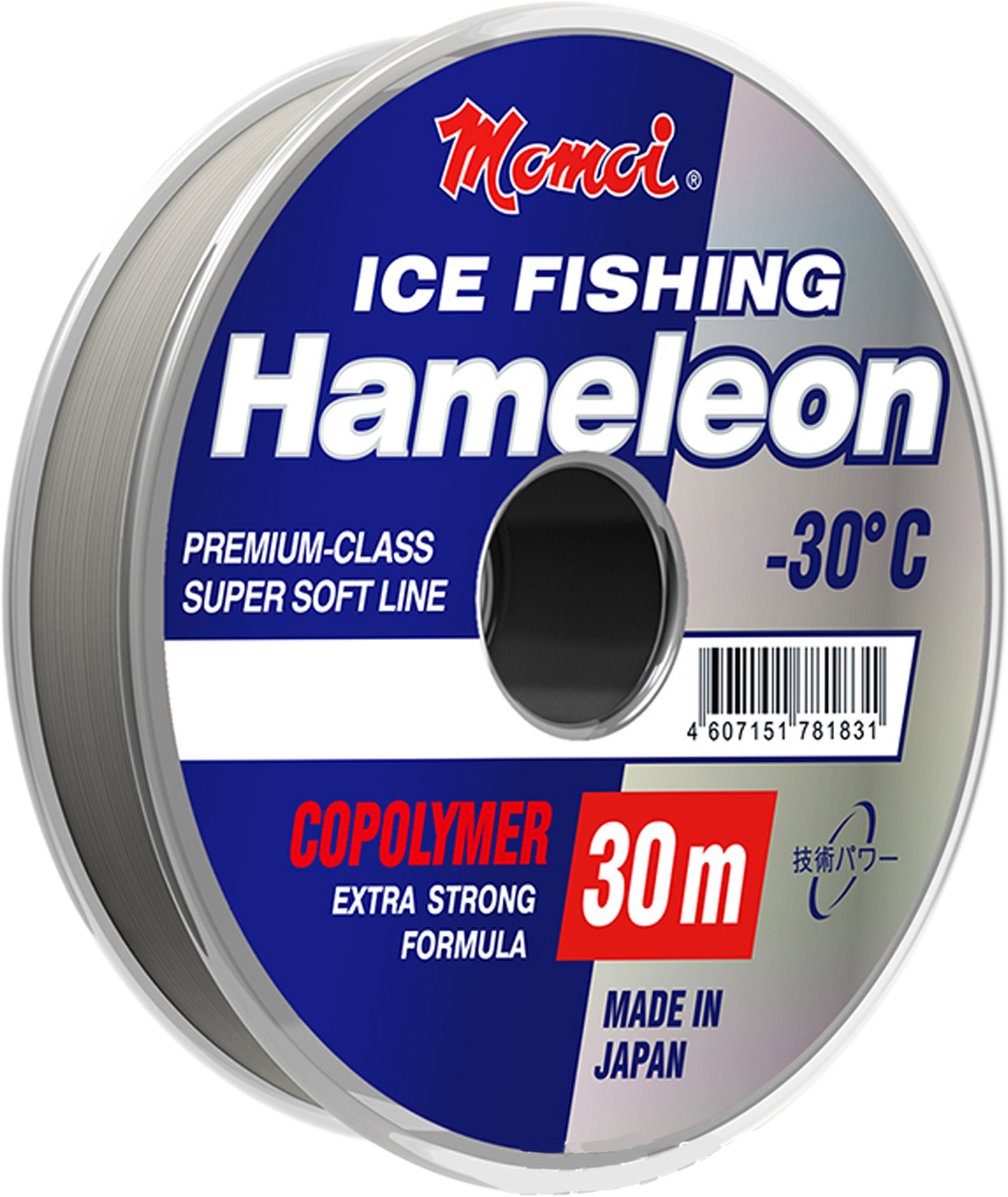 Фото - Леска зимняя Momoi Fishing Hameleon ICE Fishing, 30 м, 0,18 мм, 4 кг рыболовная леска yonghong 100% uhmwpe 4 100 300meters 100lb 300meters