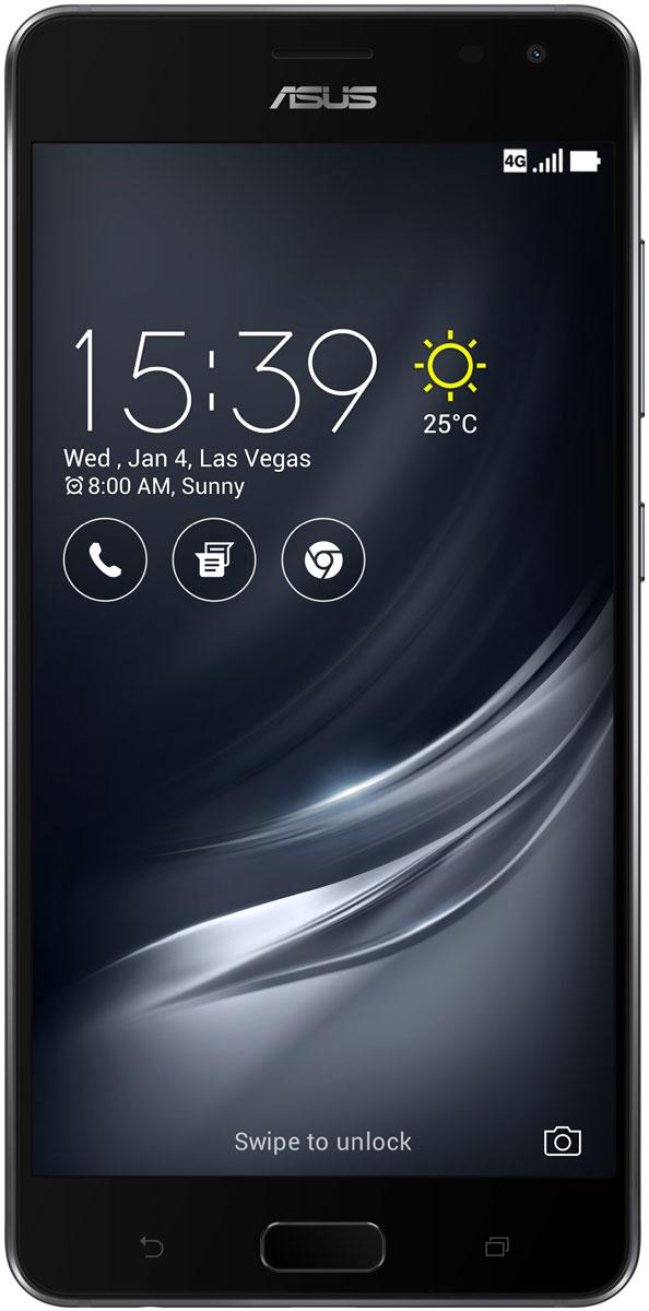 ASUS ZenFone AR ZS571KL, Black90AK0021-M00670ASUS ZenFone AR ZS571KL - это 5,7-дюймовый смартфон, которым первым в мире предлагает поддержку платформ дополненной и виртуальной реальности от компании Google, которые известны под названиями Tango и Daydream, соответственно.Платформа Tango представляет собой комплекс датчиков и программного обеспечения, который наделяет смартфон ZenFone AR способностью воспринимать пространство и движение так, как это делает человек. Результат – дополненная реальность, которая выглядит как нечто из кинофильмов о будущем. Благодаря Tango смартфон отслеживает свое перемещение, определяет, насколько далеко он находится от стен, потолка и других объектов, и запоминает ключевые визуальные особенности трехмерного пространства вокруг себя.На задней панели смартфона ZenFone AR находится состоящая из трех камер система TriCam, которая позволяет ему строить трехмерную модель окружающего пространства и отслеживать свое перемещение. Именно для отслеживания перемещения смартфона в пространстве необходима первая камера. Вторая камера служит для восприятия глубины. Используя инфракрасный проектор, она измеряет расстояние до объектов в реальном мире. И, наконец, третья камера, с разрешением 23 мегапикселя, дает возможность отображать виртуальные объекты на фоне реального окружения. Это и есть дополненная реальность на базе платформы Tango.ZenFone AR – это не просто смартфон, а многофункциональный инструмент, для которого найдется масса полезных применений. Например, во время ремонта или замены мебели в квартире можно воспользоваться им, чтобы измерить размер комнаты и поставить виртуальный диван в разные места, чтобы понять, где именно он будет смотреться идеально – при этом реальный диван перетаскивать с места на место не нужно!Благодаря технологии Tango смартфон ZenFone AR позволяет взаимодействовать с виртуальными объектами так, словно они присутствуют в нашем настоящем мире. Дополненная реальность делает игры и другие развлекательные приложения ещ