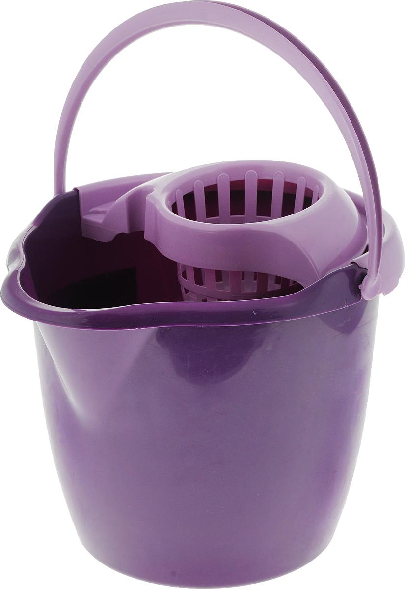 Ведро с отжимом York Prestige, цвет: фиолетовый, 12 л7007_фиолетовыйВедро с отжимом York Prestige изготовлено из сложных полимеров. Изделие оснащено съемной вставкой для отжима швабры и удобной ручкой для переноски. Такое ведро пригодится в каждом доме, а стильный дизайн сделает его желанным для любой хозяйки.Размер ведра (по верхнему краю): 33 см х 30 см.Высота (без учета вставки для отжима): 26,5 см.