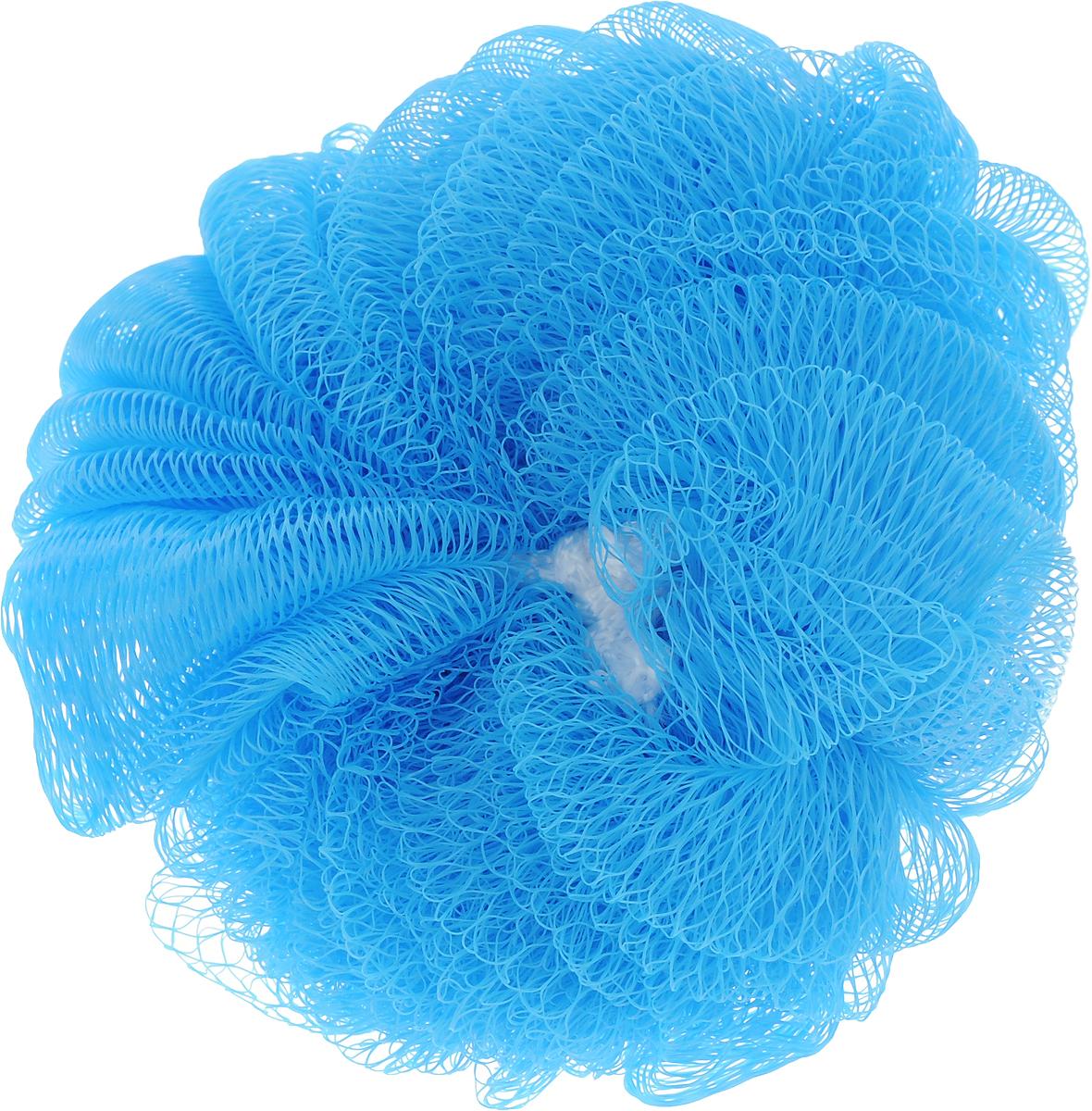Мочалка Paterra Шар, цвет: голубой, 14 см408-061_голубойМочалка Paterra Шар, выполненная из нейлона, предназначена для мягкого очищения кожи. Она станет незаменимым аксессуаром ванной комнаты. Мочалка отлично пенится, обладает легким массажным воздействием, идеально подходит для чувствительной кожи. На мочалке имеется удобная петля для подвешивания.