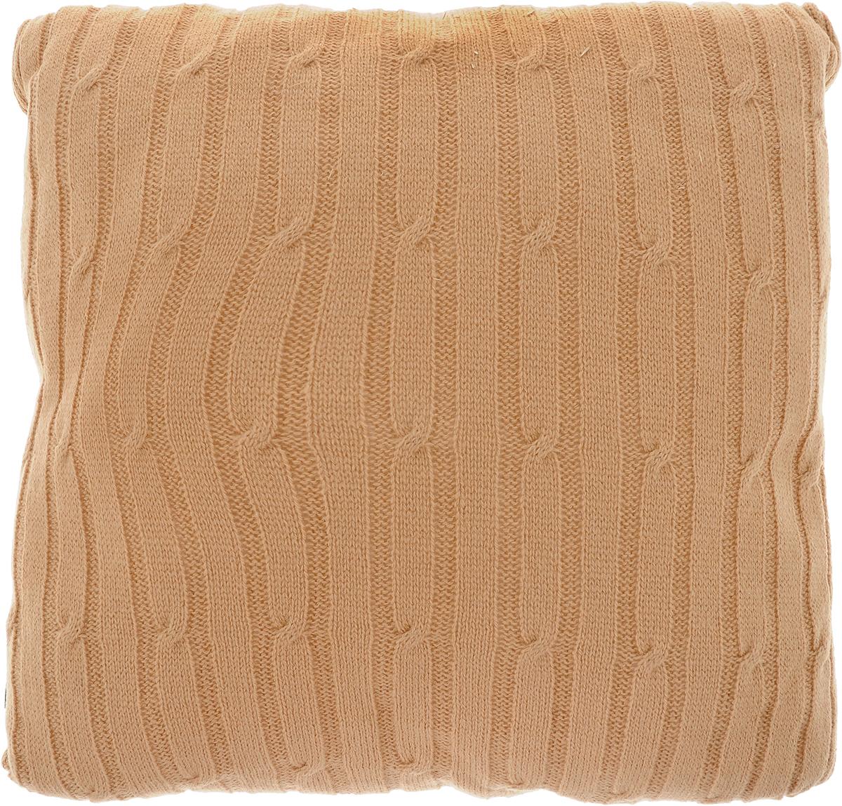 Подушка декоративная Proffi Home Косы, цвет: светло-коричневый, 40 х 40 см часы настенные proffi home корица