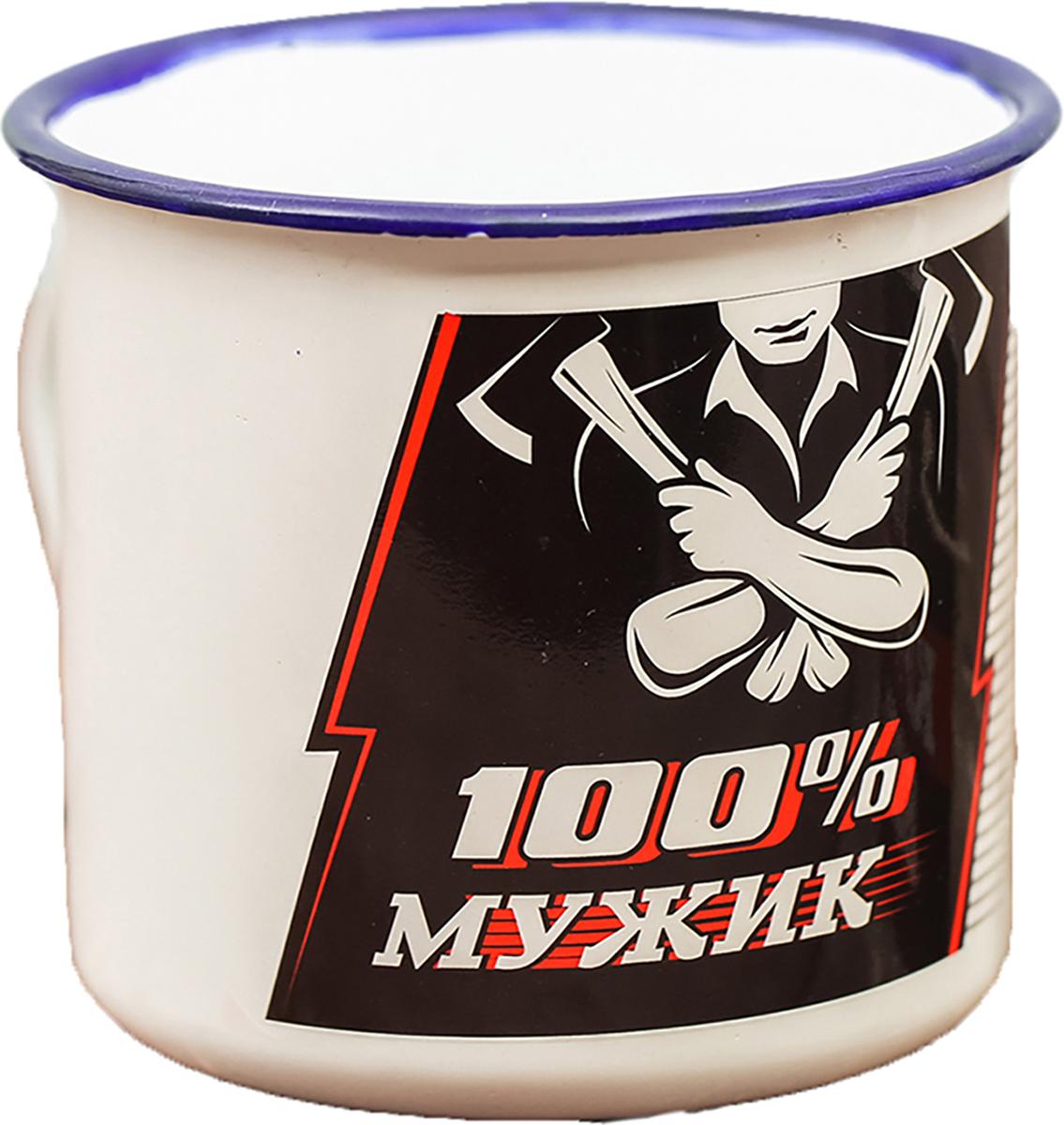 Кружка Sima-Land 100% мужик, 350 мл. 21961032196103Порадуйте близких кружкой в винтажном стиле. Такой аксессуар - символ целой эпохи, о которой у многих остались самые теплые воспоминания. Изделие не разобьется, его легко мыть. Особенности: - не впитывает запахов, - краска не сходит со временем, - ручка не нагревается от горячей жидкости. Рекомендуется использовать неабразивные моющие средства.