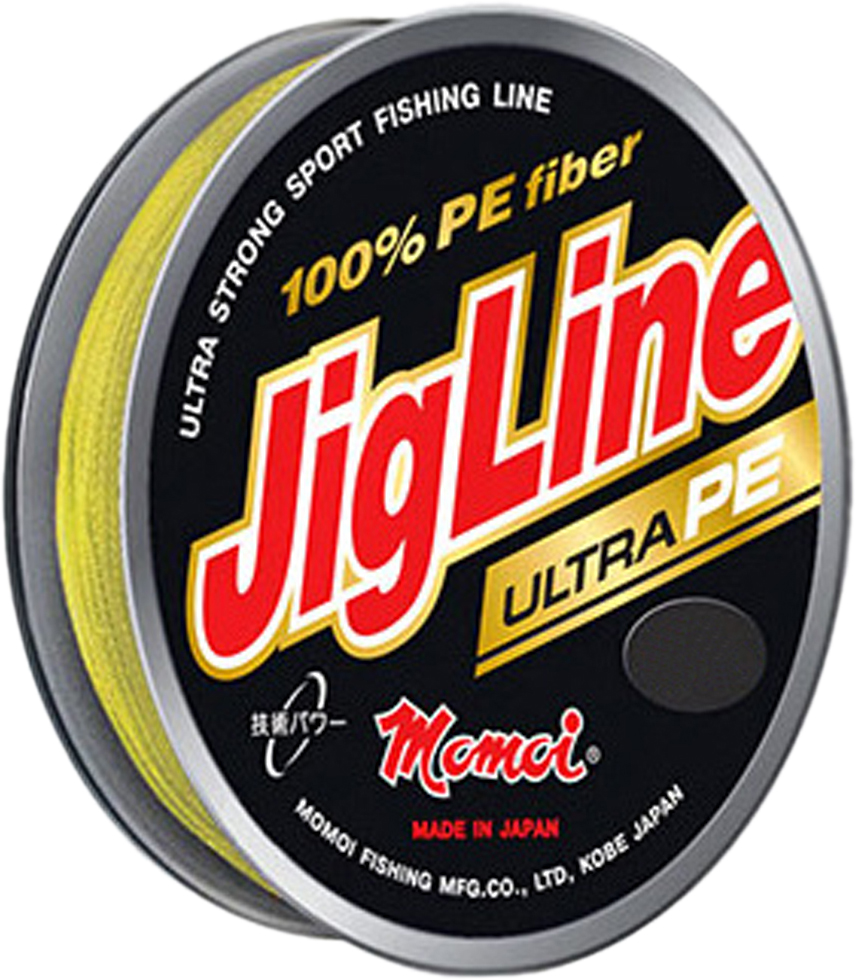 Шнур плетеный Momoi Fishing JigLine Ultra PE, цвет: хаки, 0,12 мм, 9,0 кг, 100 м