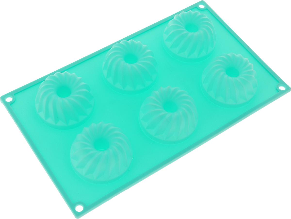 Форма для выпечки Marmiton Кекс,силиконовая, цвет: мятный,29 х 17 х 3 см, 6 ячеек16024_мятныйФорма для выпечки Marmiton Кекс, выполненная из силикона, будет отличным выбором для всех любителей бисквитов и кексов.Ячейки имеют форму кексов. Форма обладает естественными антипригарными свойствами. Неприлипающая поверхность идеальна для духовки, морозильника, микроволновой печи и аэрогриля. Готовую выпечку или мармелад вынимать легко и просто.С такой формой вы всегда сможете порадовать своих близких оригинальным изделием. Материал устойчив к фруктовым кислотам, может быть использован в духовках и микроволновых печах (выдерживает температуру от 230°C до - 40°C).Можно мыть и сушить в посудомоечной машине.Размер формы для выпечки: 29 х 17 х 3 см.Размер ячеек: 6,5 х 6,5 х 3 см. Как выбрать форму для выпечки – статья на OZON Гид.
