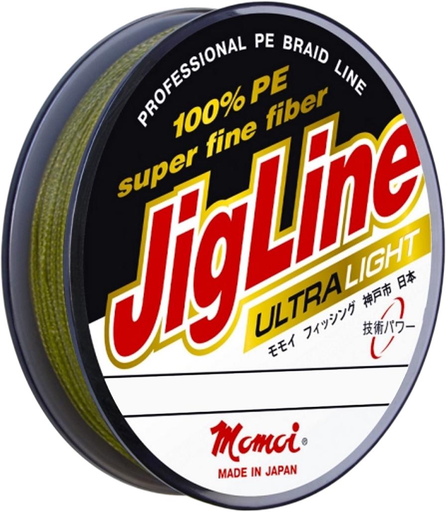 Шнур плетеный Momoi Fishing JigLine Ultra Light, 0,04 мм, 2,4 кг, 100 м16990Шнур плетеный JigLine Ultra PE- классическая серия 4-х жильных плетеных шнуровPremiumкласса100% PE DYNEEMA, которая побеждала в Европейских конкурсах. Хорошо опробована и известна не тольколюбителям троллингаи джига, но и ультралайта в диаметрах 0,05-0,10 мм.