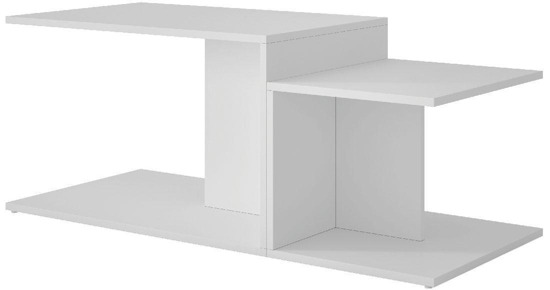 Стол журнальный Manhattan Comfort Cuba 2.0, цвет: белый, 102,5 х 44,5 х 41,5 смBM 52-06Стол журнальный двухсекционный.