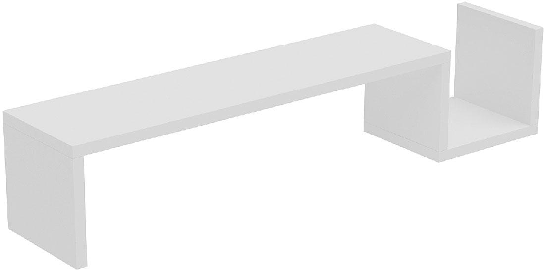 Полка Manhattan Comfort Zemmur, цвет: белыйBPL 02-06Декоративная L-образная полка для гостиной, спальни и офиса.