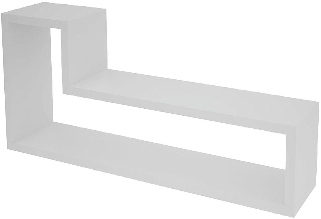 Полка Manhattan Comfort Barbas, цвет: белыйBPL 06-06Декоративная L-образная полка для гостиной, спальни и офиса.
