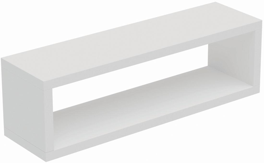 Полка Manhattan Comfort Tichla 1.0, цвет: белыйBPL 12-06Декоративная прямоугольная полка для гостиной, спальни и офиса.