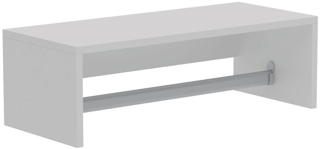 Полка Manhattan Comfort Clean 1.0, цвет: белый аксессуары в ванную комнату интернет магазин