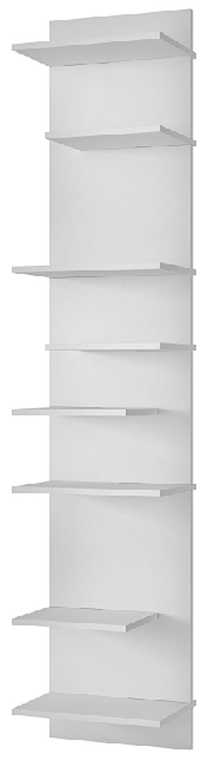 Шкаф Manhattan Comfort Clarity 1.0, цвет: белый шкаф с полками дсп и зеркальной дверью орион