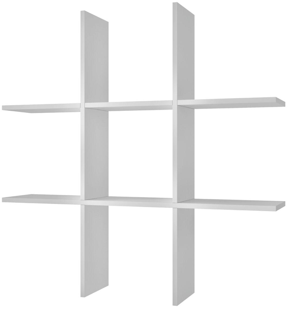 Полка Manhattan Comfort Taranaki, цвет: белыйBX 21-06Полка открытая Taranaki для спальни, гостиной или офиса.