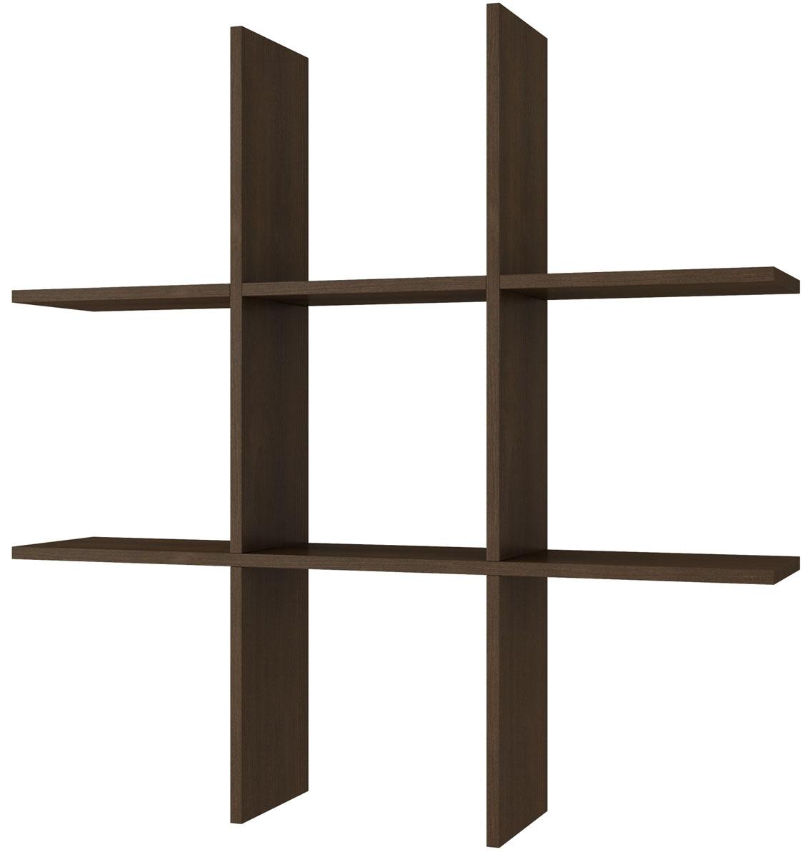 Полка Manhattan Comfort Taranaki, цвет: темно-коричневыйBX 21-49Полка открытая Тик-Так для спальни, гостиной или офиса.