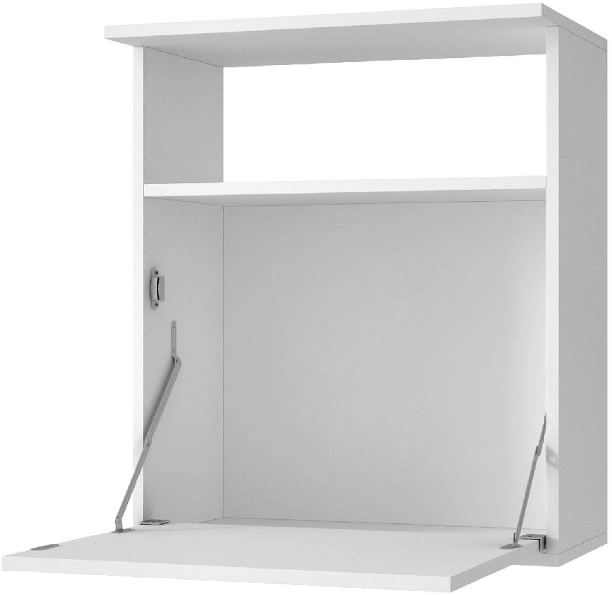 """Manhattan Comfort """"Asia"""" - кухонный настенный шкаф с откидной дверцей. Дверца может быть использована в качестве стола. Шкаф изготовлен из ламинированного ДСП. Размер: 63 x 53,5 x 33.5 см."""