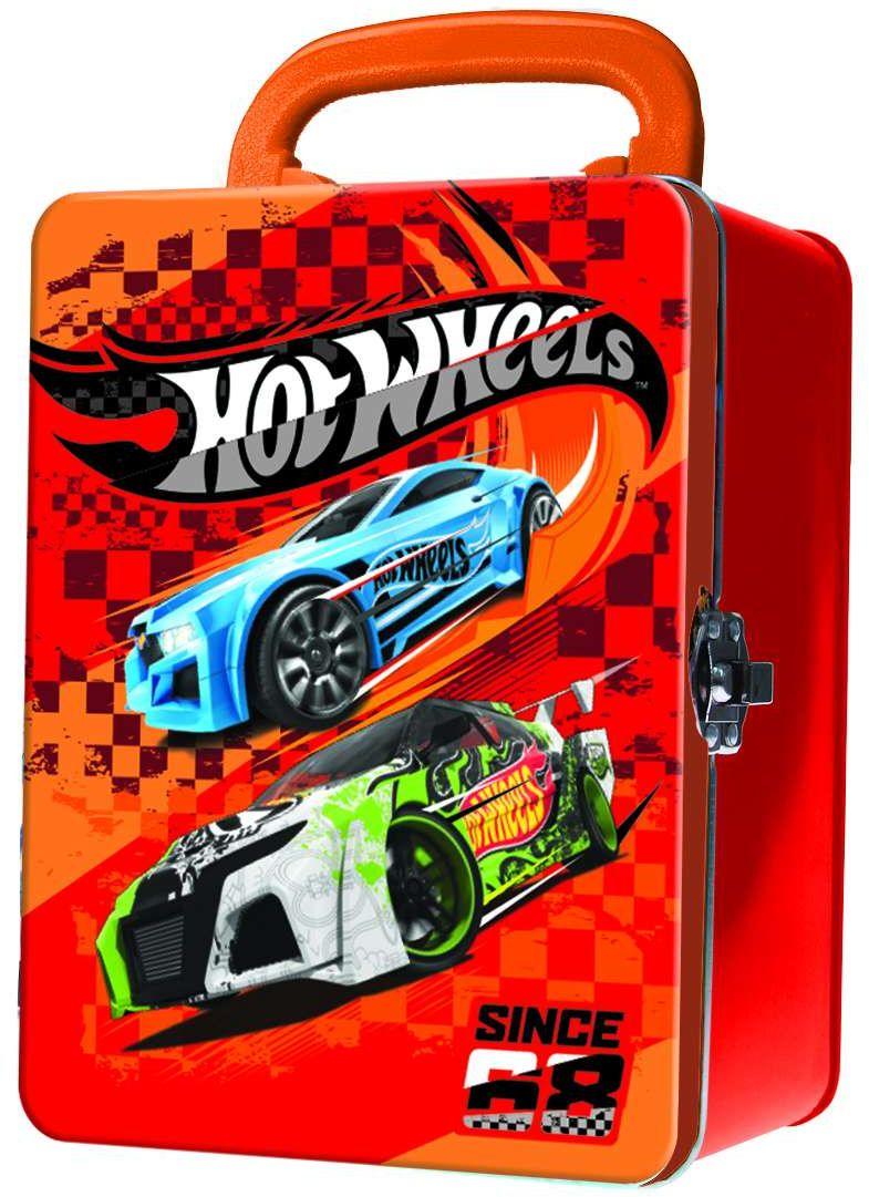 Hot Wheels Портативный кейс для хранения 18 машинок цвет красный домашние горки для машинок