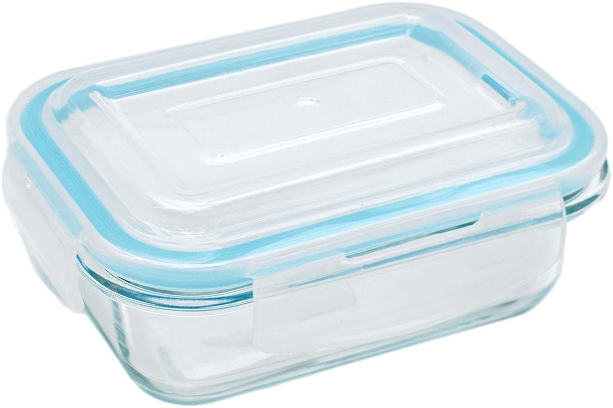 Контейнер пищевой Eley Elegant Сollection, прямоугольный, цвет: лазурный, 370 млELEC6000LПрямоугольный пищевой контейнер Eley выполнен из жаропрочного боросиликатного стекла. Крышка Air Lock изготовлена из полипропилена и оснащена силиконовым уплотнителем, для обеспечения полной герметичности внутри контейнера. В крышку встроен вентиляционный клапан для удобства использования в холодильных и морозильных камерах. Он подходит для использования в микроволновой печи и духовке (без крышки).Подходит для использования в холодильнике и морозильной камере.Подходит для использования в посудомоечной машине. Контейнер можно использовать как форму для запекания (до +400 С).
