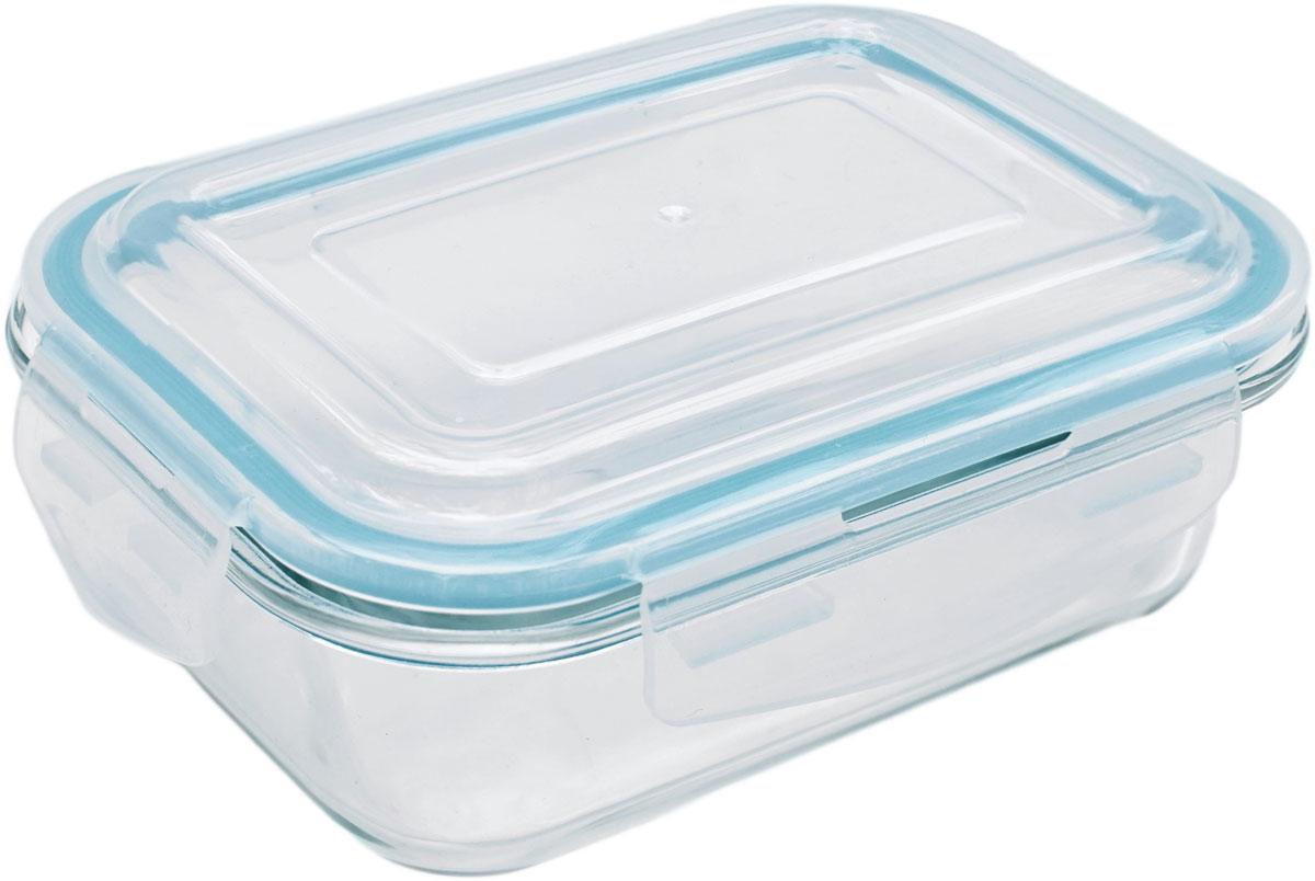 Контейнер пищевой Eley Elegant Сollection, прямоугольный, цвет: лазурный, 650 мл. ELEC6001LELEC6001LПрямоугольный пищевой контейнер Eley выполнен из жаропрочного боросиликатного стекла. Крышка Air Lock изготовлена из полипропилена и оснащена силиконовым уплотнителем, для обеспечения полной герметичности внутри контейнера. В крышку встроен вентиляционный клапан для удобства использования в холодильных и морозильных камерах.Он подходит для использования в микроволновой печи и духовке (без крышки). Подходит для использования в холодильнике и морозильной камере. Подходит для использования в посудомоечной машине.Контейнер можно использовать как форму для запекания (до +400 С).