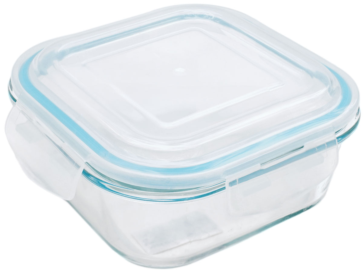 Контейнер пищевой Eley Elegant Сollection, квадратный, цвет: лазурный, 800 мл контейнер пищевой вакуумный bekker квадратный 330 мл