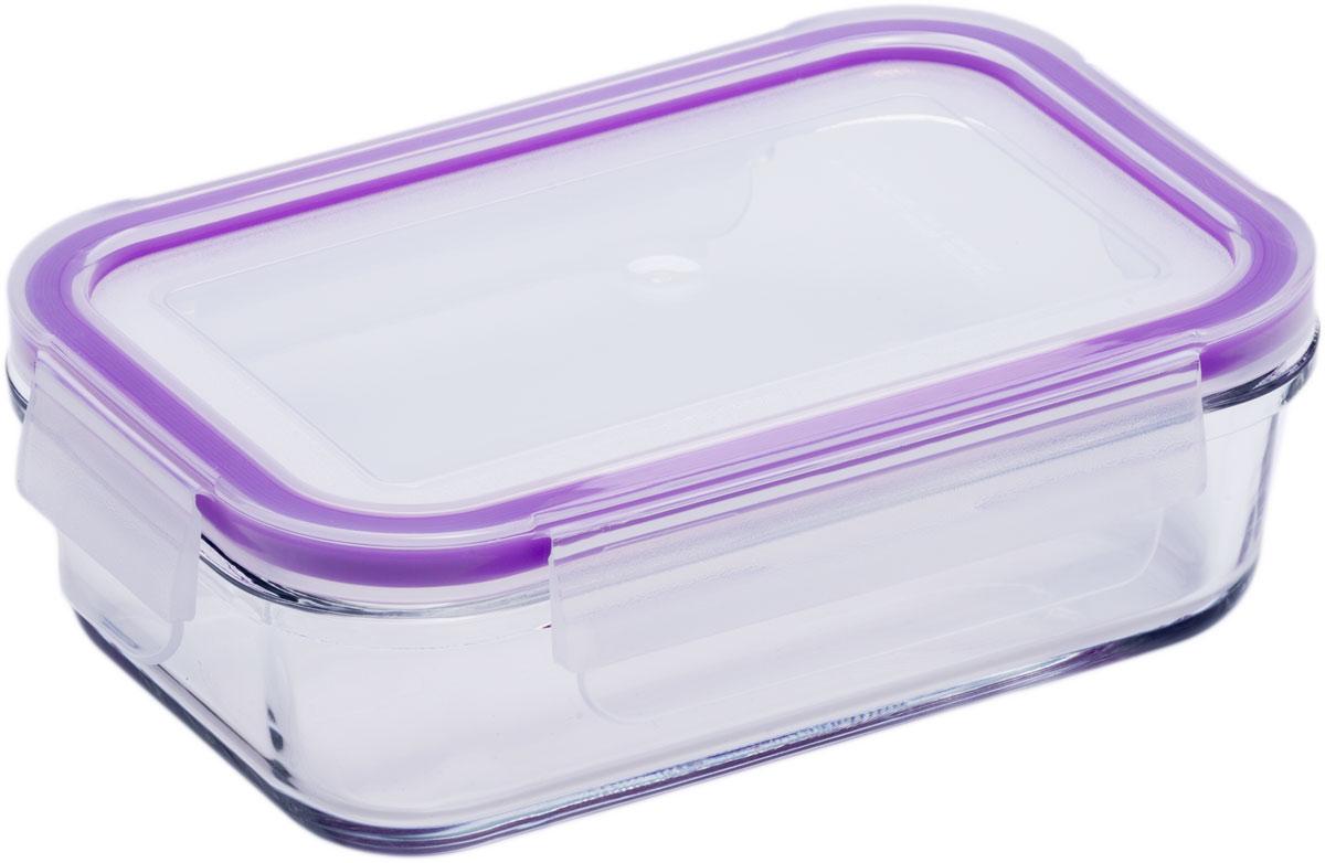 Контейнер пищевой Eley, цвет: баклажан , 400 млELH3401PКонтейнер прямоугольный Eley 400 мл пищевой из жаропрочного боросиликатного стекла.1. Подходит для использования в микроволновой печи и духовке (без крышки); 2. Подходит для использования в холодильнике и морозильной камере; 3. Подходит для использования в посудомоечной машине; 4. Можно использовать как форму для запекания (до +400 С). 5. Крышка Air Lock изготовлена из полипропилена и оснащена силиконовым уплотнителем, для обеспечения полной герметичности внутри контейнера.6. В крышку встроен вентиляционный клапан для удобства использования в холодильных и морозильных камерах.