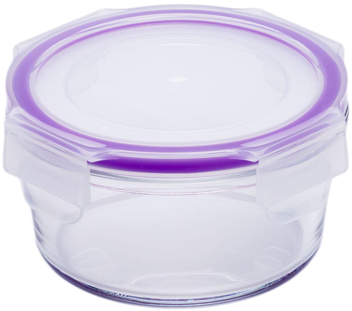 Контейнер пищевой Eley, цвет: баклажан , 370 млELH3801PКонтейнер круглый Eley 830 мл пищевой из жаропрочного боросиликатного стекла. 1. Подходит для использования в микроволновой печи и духовке (без крышки);2. Подходит для использования в холодильнике и морозильной камере; 3. Подходит для использования в посудомоечной машине;4. Можно использовать как форму для запекания (до +400 С). 5. Крышка Air Lock изготовлена из полипропилена и оснащена силиконовым уплотнителем, для обеспечения полной герметичности внутри контейнера.