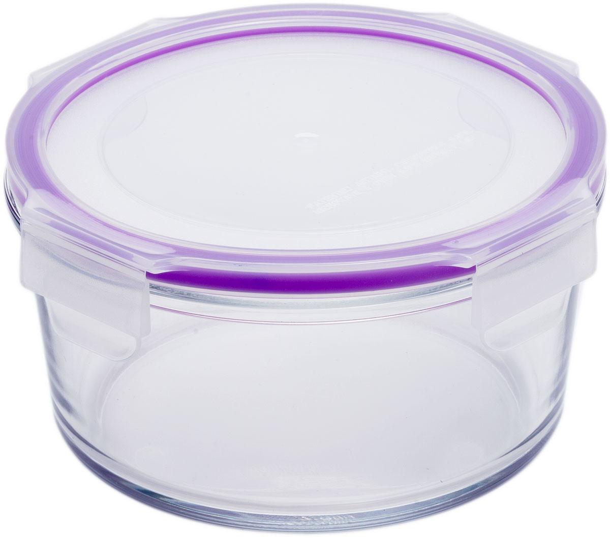 """Круглый пищевой контейнер """"Eley"""" выполнен из жаропрочного боросиликатного стекла. Крышка Air Lock изготовлена из полипропилена и оснащена силиконовым уплотнителем, для обеспечения полной герметичности внутри контейнера.  Он подходит для использования в микроволновой печи и духовке (без крышки). Подходит для использования в холодильнике и морозильной камере. Подходит для использования в посудомоечной машине.  Контейнер можно использовать как форму для запекания (до +400 С)."""