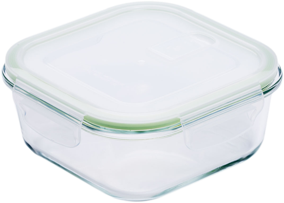 Контейнер пищевой Eley, цвет: зеленый, 530 млELP2202GКонтейнер прямоугольный Eley 530 мл пищевой из жаропрочного боросиликатного стекла.1. Подходит для использования в микроволновой печи и духовке (без крышки); 2. Подходит для использования в холодильнике и морозильной камере; 3. Подходит для использования в посудомоечной машине; 4. Можно использовать как форму для запекания (до +400 С). 5. Крышка Air Lock изготовлена из полипропилена и оснащена силиконовым уплотнителем, для обеспечения полной герметичности внутри контейнера.6. В крышку встроен вентиляционный клапан для удобства использования в холодильных и морозильных камерах.