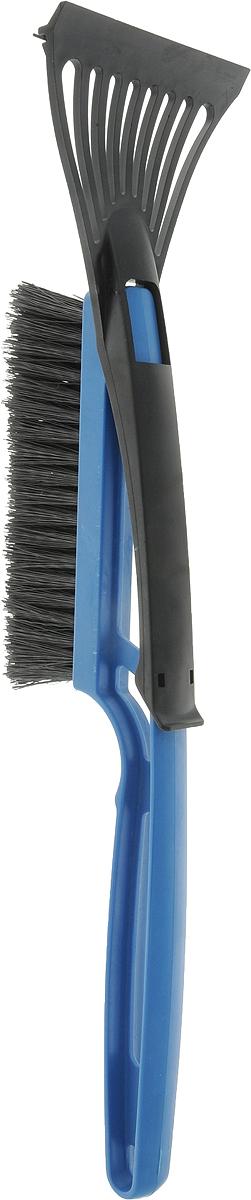 Щетка для снега Главдор GL-611, со съемным скребком, цвет: синий, длина 42 смGL-611_синийКомпактная щетка Главдор выполнена из полимера предназначена для удаления снега и льда с поверхности автомобиля. Щетка имеет упругую, двухрядную, полимерную щетину и съемный скребок с разрыхлителем.Ширина рабочей поверхности скребка: 10 см.Размер щетины: 16,5 х 5 см.