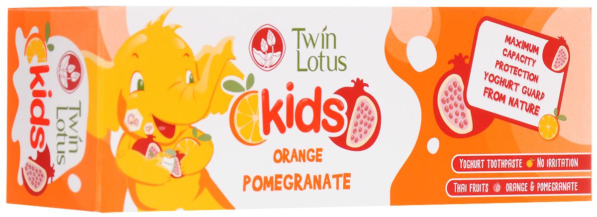 Twin Lotus Детская зубная паста Апельсин и гранат, 50 г twin lotus зубная паста рецепт для чувствительных зубов 120 г