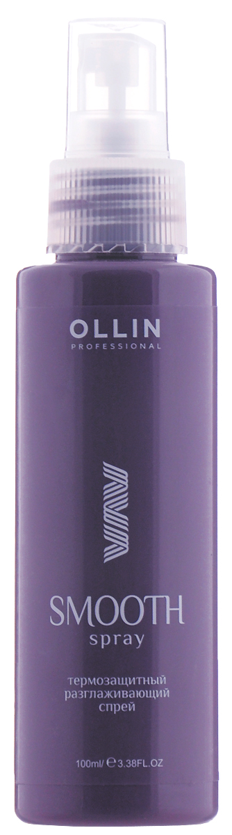 Ollin Термозащитный разглаживающий спрей Smooth Hair Thermal Protection Smoothing Spray 100 мл спрей nexxt professional energy vital protection spray 250 мл