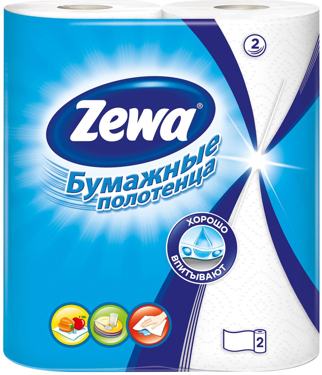 Полотенца бумажные Zewa, двухслойные, 2 рулона