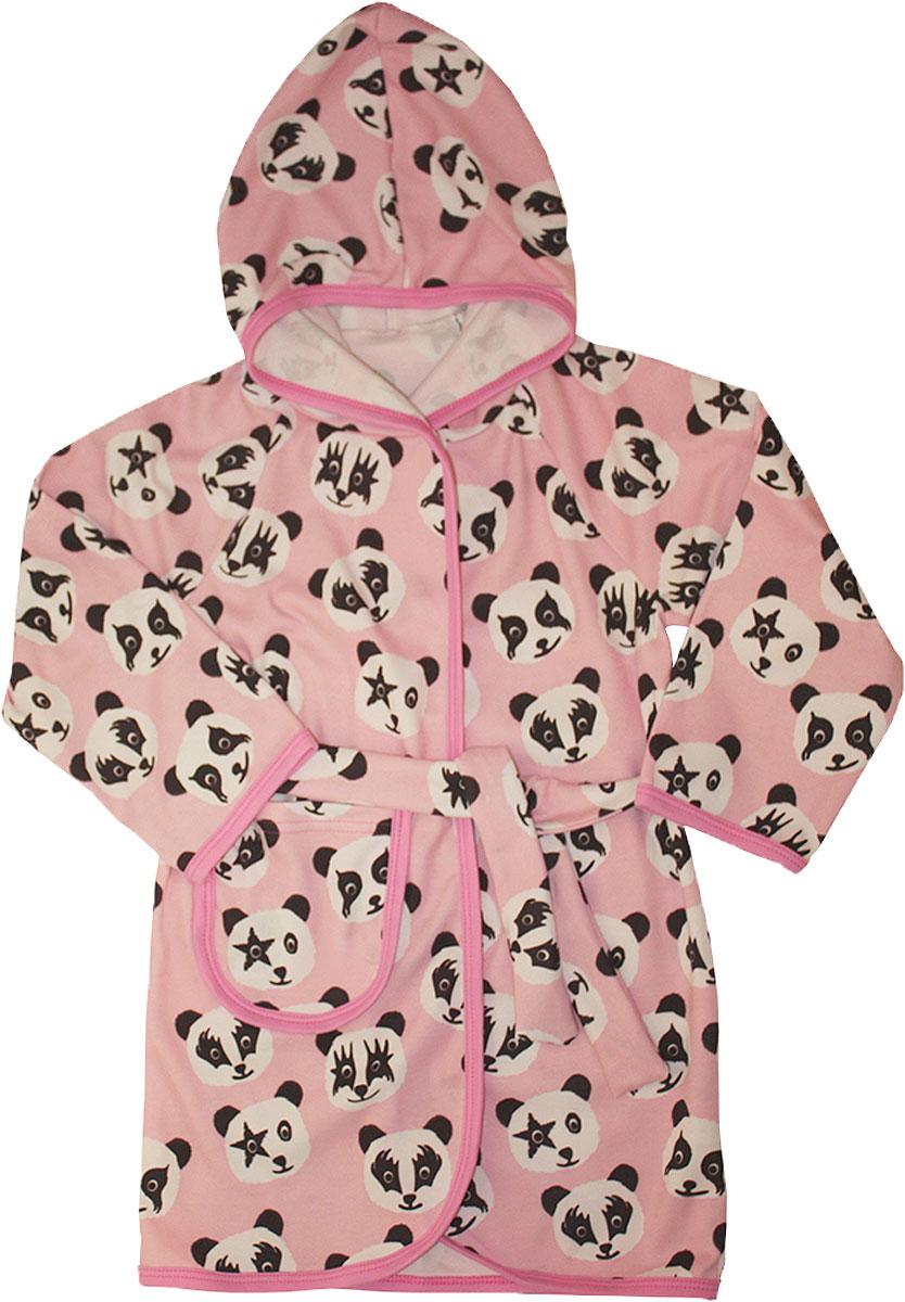 Халат для девочки КотМарКот, цвет: розовый. 12222. Размер 12812222