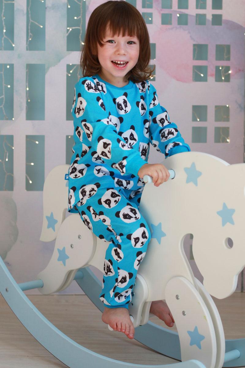 Пижама для девочки КотМарКот, цвет: голубой. 16520. Размер 12216520