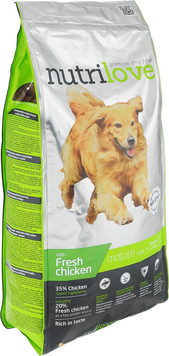 Корм сухой Nutrilove Mature Adult 7+ для пожилых собак всех пород, с курицей и рисом, 3 кг15495Высококачественный сухой корм Nutrilove Mature Adult 7+ - полноценное питание специально разработанное для собак старше 7 лет. Уменьшенное содержание жира и калорий для поддержания оптимальной телесной кондиции. Отличный вкус без добавления искусственных ароматизаторов. Корм не содержит консервантов и искусственных красителей. Продукты Nutrilove являются инновационными в своем сегменте. Корма изготовлены по самыми передовыми технологиями, в том числе, с использованием свежего мяса в качестве одного из основных ингредиентов. Они характеризуются высоким содержанием белка животного происхождения с идеально сбалансированным содержанием жиров, минеральных веществ и витаминов.Товар сертифицирован.Чем кормить пожилых собак: советы ветеринара. Статья OZON Гид