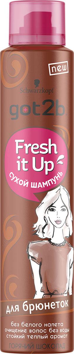 Got2b Fresh it Up Парфюмированный сухой шампунь Для брюнеток. Горячий шоколад marlies moller specialist сухой шампунь придающий объем с шелком 4г