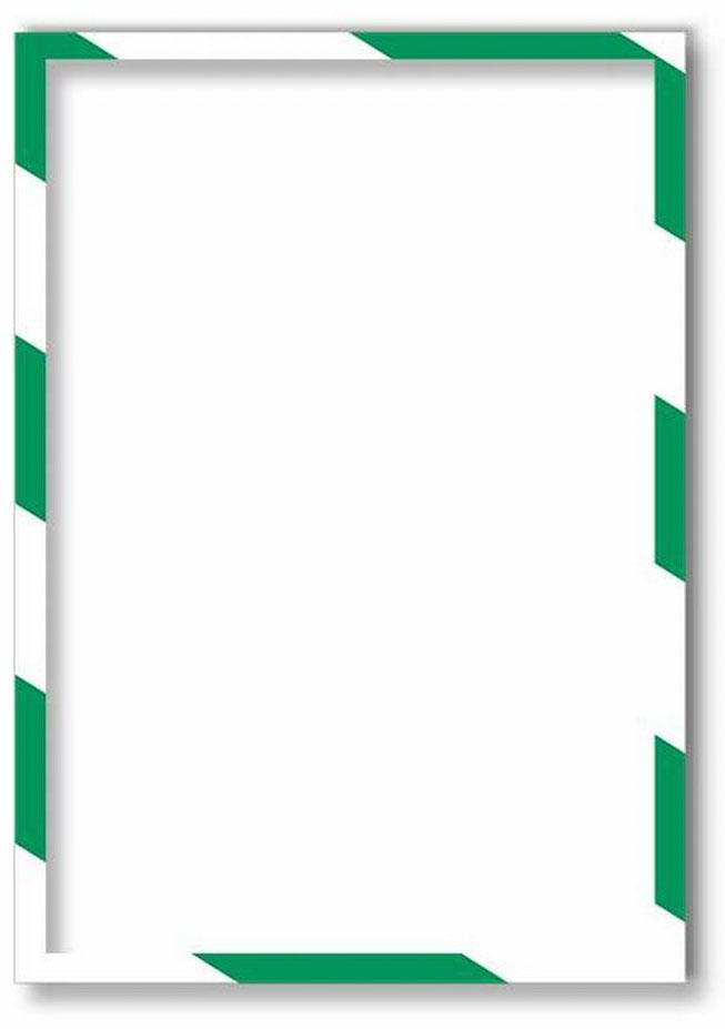 Магнитная защитная слайд-рамка для предупреждающих знаков цвет бело-красная 5 шт -  Аксессуары для досок и флипчартов