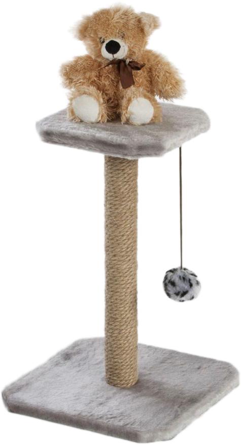 Когтеточка Велес  Столбик , с полкой и игрушкой, 35 х 35 х 50 см - Когтеточки и игровые комплексы